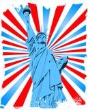 Statua di Liberty Grunge Immagine Stock Libera da Diritti