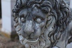 Statua di Lion Stone Fotografia Stock