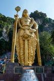 Statua di Lord Murugan alle caverne Kuala Lumpur di Batu fotografie stock libere da diritti