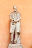 Statua di Luigi Roggero in palazzo Palazzo Doria Tursi, Genova immagini stock libere da diritti