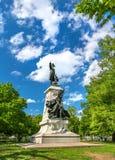 Statua di Major General Comte Jean de Rochambeau sul quadrato a Washington, D di Lafayette C fotografia stock