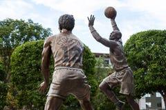 Statua di Malone & di Stockton Fotografia Stock