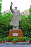 Statua di Mao Zedong al campus universitario Schang-Hai, porcellana di tongji Fotografia Stock Libera da Diritti