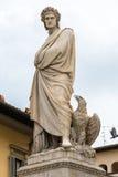 Statua di marmo di Dante Alighieri a Firenze Fotografia Stock