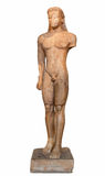 Statua di marmo di un Kouros Immagini Stock Libere da Diritti