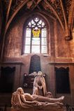 Statua di marmo di Jesus Christ e di vergine Maria in chiesa evangelica immagine stock libera da diritti