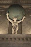 Statua di marmo in palazzo reale Amsterdam Immagine Stock Libera da Diritti