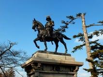 Statua di Masamune Date Fotografia Stock