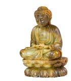 Statua di meditazione di Jade Buddha isolata Immagini Stock Libere da Diritti