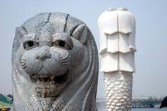 Statua di Merlion a Singapore Fotografia Stock