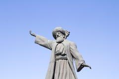 Statua di Mevlana famoso Rumi fotografia stock