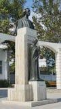 Statua di Mihai Eminescu - poeta rumeno del genio Immagini Stock