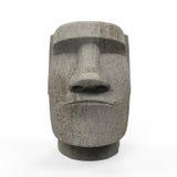 Statua di Moai isolata Fotografia Stock Libera da Diritti