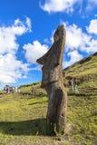 Statua di Moai nell'isola di pasqua, Cile Fotografia Stock Libera da Diritti