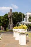 Statua di Mohammad Husni Thamrin a Jakarta fotografie stock libere da diritti