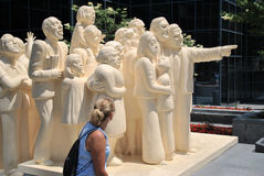 Statua di Montreal Immagine Stock