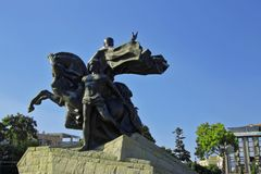 Statua di Mustafa Kemal Ataturk a Antalya Turchia Immagine Stock Libera da Diritti