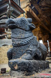 Statua di Nandi Bull al tempio di Brihadeshwara Fotografia Stock