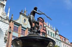 Statua di Nettuno, Artus Court, Danzica Polonia Tom Wurl Fotografia Stock Libera da Diritti