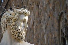 Statua di Nettuno a Firenze Immagini Stock