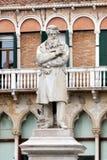 Statua di Nicolo Tommaseo a Venezia, Italia Fotografia Stock