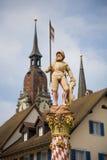 Statua di Niklaus Thut immagine stock