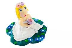 Statua di nozze della sposa isolata su bianco Fotografie Stock