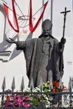 Statua di Papa Giovanni Paolo II, Garde Kirche, Vienna Immagini Stock Libere da Diritti
