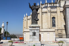 Statua di Papa Giovanni Paolo II, Madrid Fotografie Stock Libere da Diritti