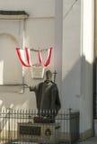 Statua di Papa Giovanni Paolo II a Vienna, Austria Immagine Stock