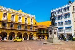 Statua di Pedro de Heredia nel bello Fotografia Stock