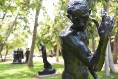Statua di Pierre De Wissant Nude da Auguste Rodin fotografie stock