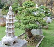 Statua di pietra classica piacevole nel parco Fotografia Stock Libera da Diritti