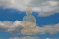 Statua di pietra del Buddha Fotografia Stock Libera da Diritti