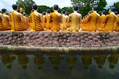 Statua di pietra del Buddha Fotografia Stock
