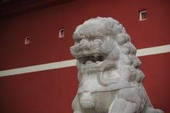 Statua di pietra del leone Immagini Stock Libere da Diritti