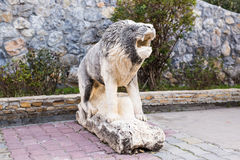 Statua di pietra del leone Immagine Stock