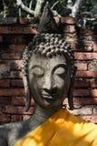 Statua di pietra di Buddha a Ayutthaya Fotografia Stock