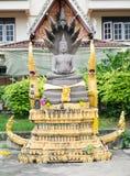 Statua di pietra di Buddha, buddismo, Tailandia Immagine Stock