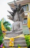 Statua di pietra di Buddha, buddismo, Tailandia Fotografie Stock Libere da Diritti