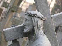 Statua di pietra di Jesus fotografie stock