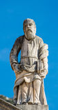 Statua di pietra nella vecchia città Perast Immagine Stock