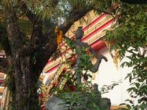 Statua di pietra per i motivi del tempio di Wat Pho a Bangkok, Tailandia immagini stock