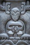 Statua di pietra polinesiana fotografie stock libere da diritti