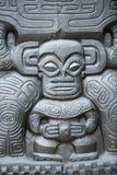 Statua di pietra polinesiana fotografia stock libera da diritti