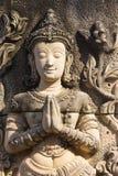 Statua di pietra in tempio fotografia stock libera da diritti