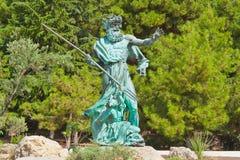 Statua di Poseidon in sosta in Crimea Fotografia Stock Libera da Diritti