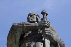 Statua di Pribina in Nitra, Slovacchia fotografia stock