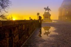 Statua di principe Eugene della Savoia, Budapest Immagini Stock