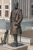 Statua di Pulevski a Skopje Fotografie Stock